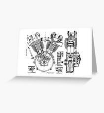 JAP V-Twin Engine  Greeting Card