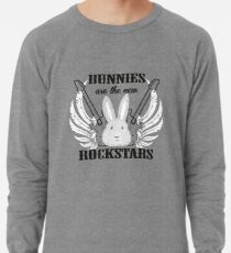 Bunnies are the new rockstars Leichtes Sweatshirt