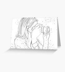 Camera Girl Greeting Card