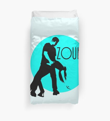 zouk dancers - blue moon Duvet Cover