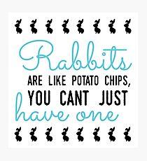 Kaninchen sind wie Kartoffelchips, man kann nicht nur eins haben Fotodruck