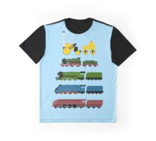 Great Steam Trains Graphic T-Shirt