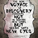 Marcel Proust famous quote about voyage by Vittorio Magaletti