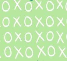 Good At Hugs And Kisses, Amazing At Noughts And Crosses Sticker