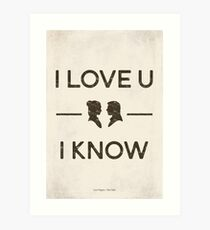 Star Wars - I Love You, I Know (Black) Art Print