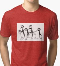 Penguins From Mary Poppins Sketch Tri-blend T-Shirt