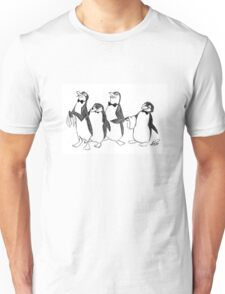 Penguins From Mary Poppins Sketch Unisex T-Shirt