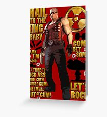 Duke Nukem Greeting Card
