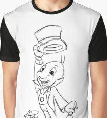Jiminy Cricket Sketch Graphic T-Shirt