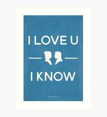 Star Wars - I Love You, I Know (color) Art Print