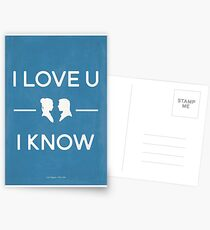 Star Wars - I Love You, I Know (color) Postcards