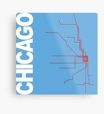 Chicago Collection Metal Print