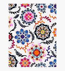 Happy Color Suzani Inspired Pattern Photographic Print