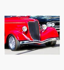Vintage Red Car Photographic Print