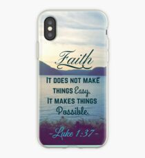 Faith Bible Verse- Luke 1:37 iPhone Case