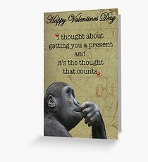 Funny valentine card Greeting Card