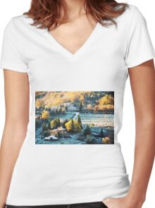 Toscana Women's Fitted V-Neck T-Shirt