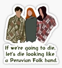 Peruvian Folk Band Sticker
