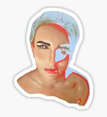 Negative Girl Sticker