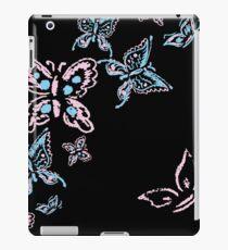 Illustration handmade drawing pastel chalks butterfly iPad Case/Skin
