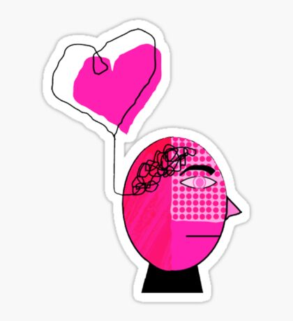 Pink in the face Sticker