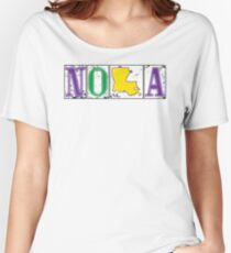 Mardi Gras NOLA Street Tiles Women's Relaxed Fit T-Shirt