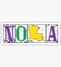 Mardi Gras NOLA Street Tiles Sticker