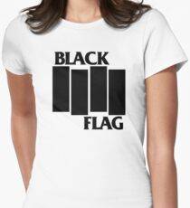 Black Flag Womens Fitted T-Shirt