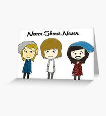 nevershoutnever cartoon drawing Greeting Card