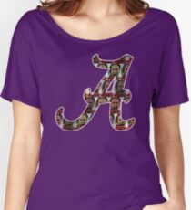 "Alabama Nick Saban ""A"" Women's Relaxed Fit T-Shirt"