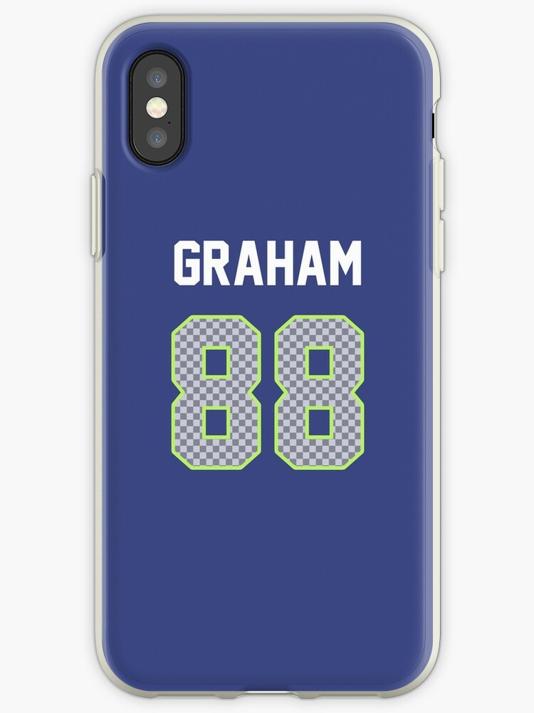 hot sale online b1f65 691ca 'Jimmy Graham Jersey' iPhone Case by Dylan Wood