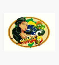 Laura's Fresh Fruit Store ( Laura Street Fighter V ) Art Print