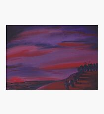 Scarlet Skies at Sunset Photographic Print