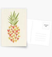 Meine Ananas Valentine Postkarten