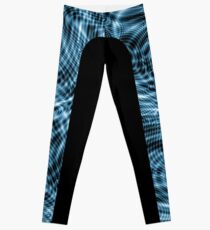 Nu Blu Waves Side Stripe Leggings Leggings