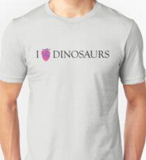 I [Columba] heart dinosaurs Slim Fit T-Shirt