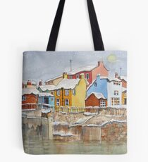 Snow on the Rooftops Tote Bag