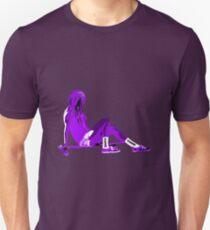 SK8N LONGBOARD GIRL PURPLE Unisex T-Shirt