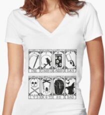 Greek Tragedy - The Wombats Women's Fitted V-Neck T-Shirt