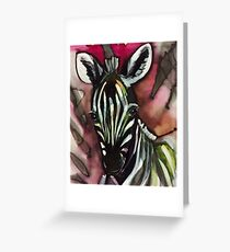 Zebra Baby Rosa Grußkarte