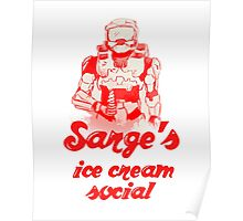 Sarge's Ice Cream Social Poster