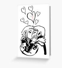 Scott Pilgrim and Ramona Flowers Greeting Card