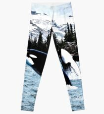 Leaping Whales Leggings