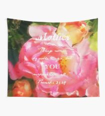 Roses - Verse Wall Tapestry