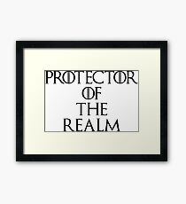 Protector Of The Realm Framed Print