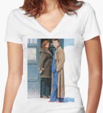 DoctorDonna Women's Fitted V-Neck T-Shirt