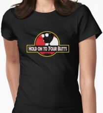 Hold on to Your Butts Women's Fitted T-Shirt