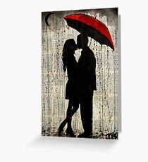 rainy day love Greeting Card