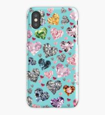 Heart Diamonds are Forever Love Valentines Couple Relationships Girl  iPhone Case/Skin