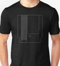NES Cartridge - White Ink Unisex T-Shirt